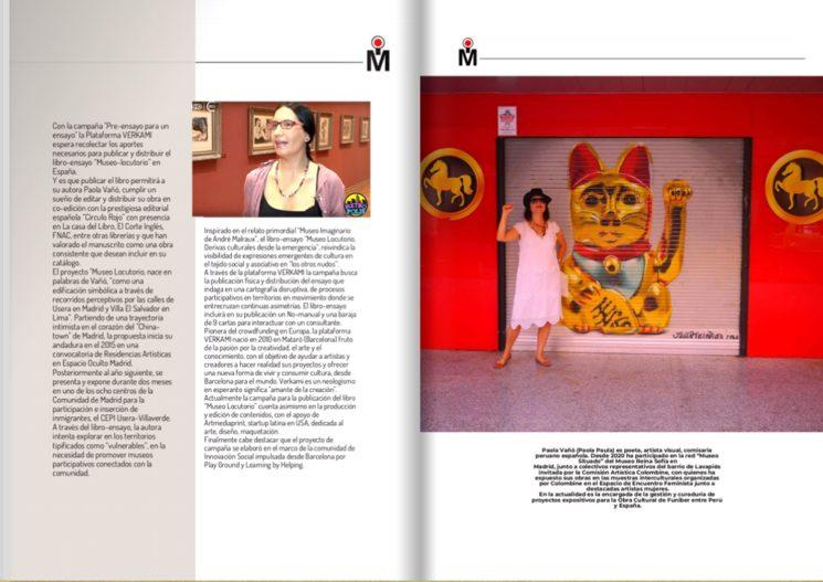 Nota sobre la campaña en revista Miradas Internacionales en la edición de julio