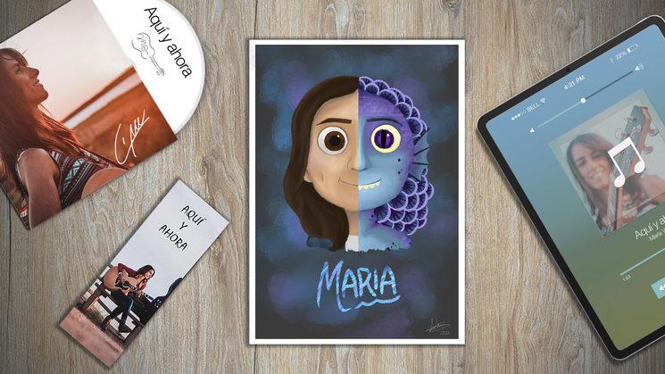 """Ilustración """"Luca"""" Disney, personalizada"""