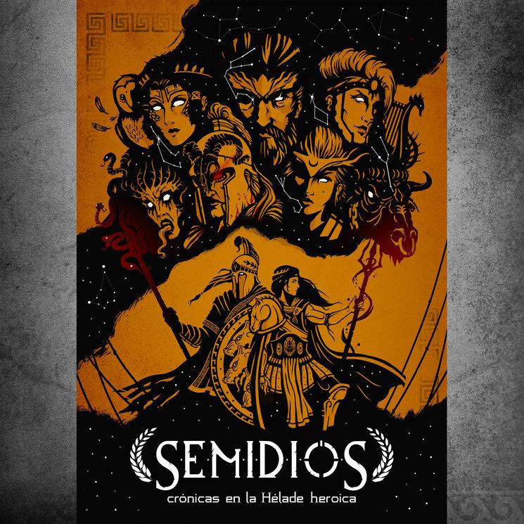 Las deidades observan desde el firmamento a dos azanidas, cuyo destino se rige por los hilos de las Moiras