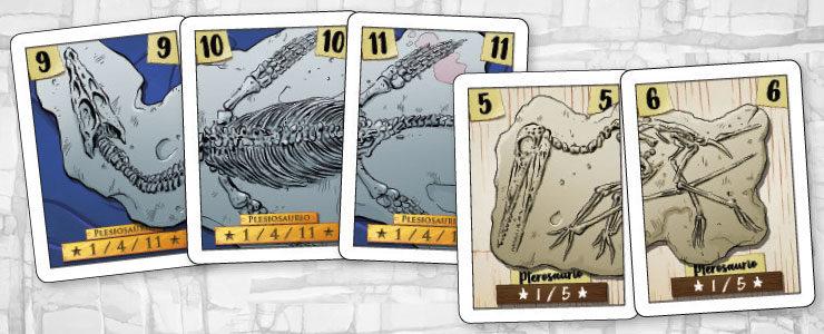 Un pterosaurio completo son 5 puntos, pero si logramos reunir el espectacular plesiosaurio nos llevaremos ¡11 puntos!.