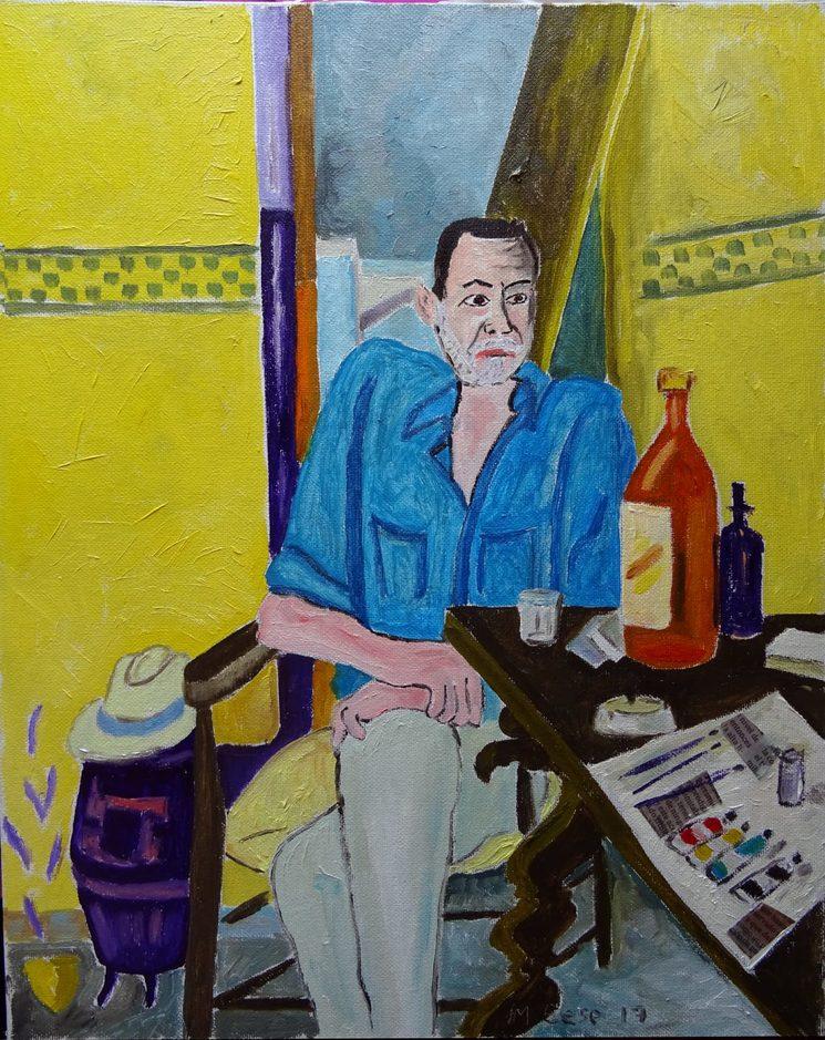 Retrato de Nicolás Sánchez en el Catálogo de Marcelino Sesé