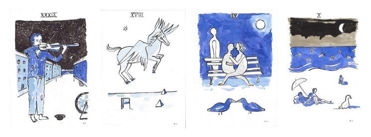 Algunas de las láminas de Marcelino Sesé para  el libro ¡Las 40