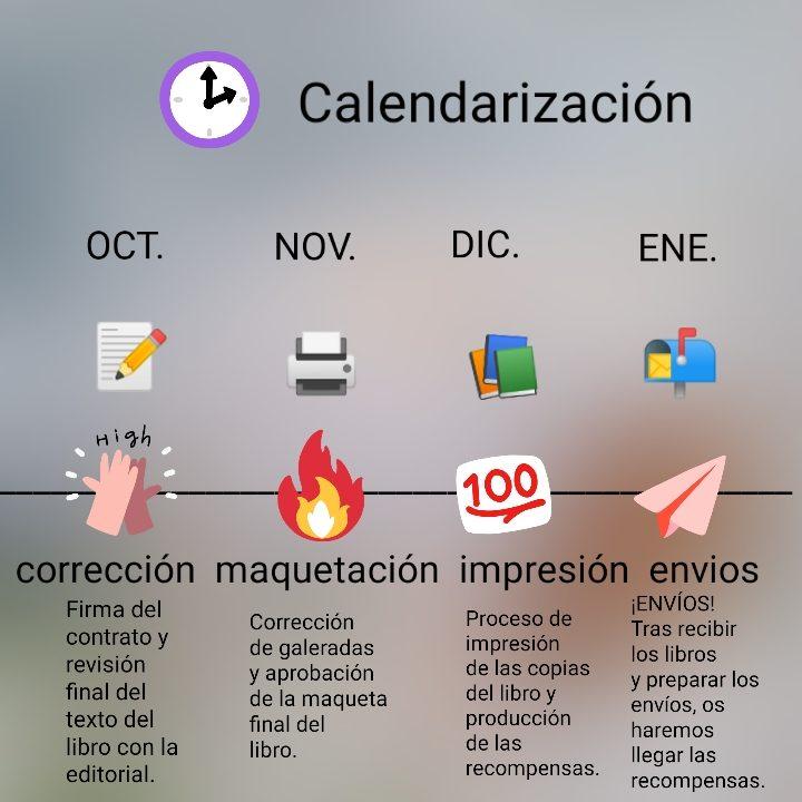 Las fechas son estimadas y dependen del calendario de trabajo de la editorial.