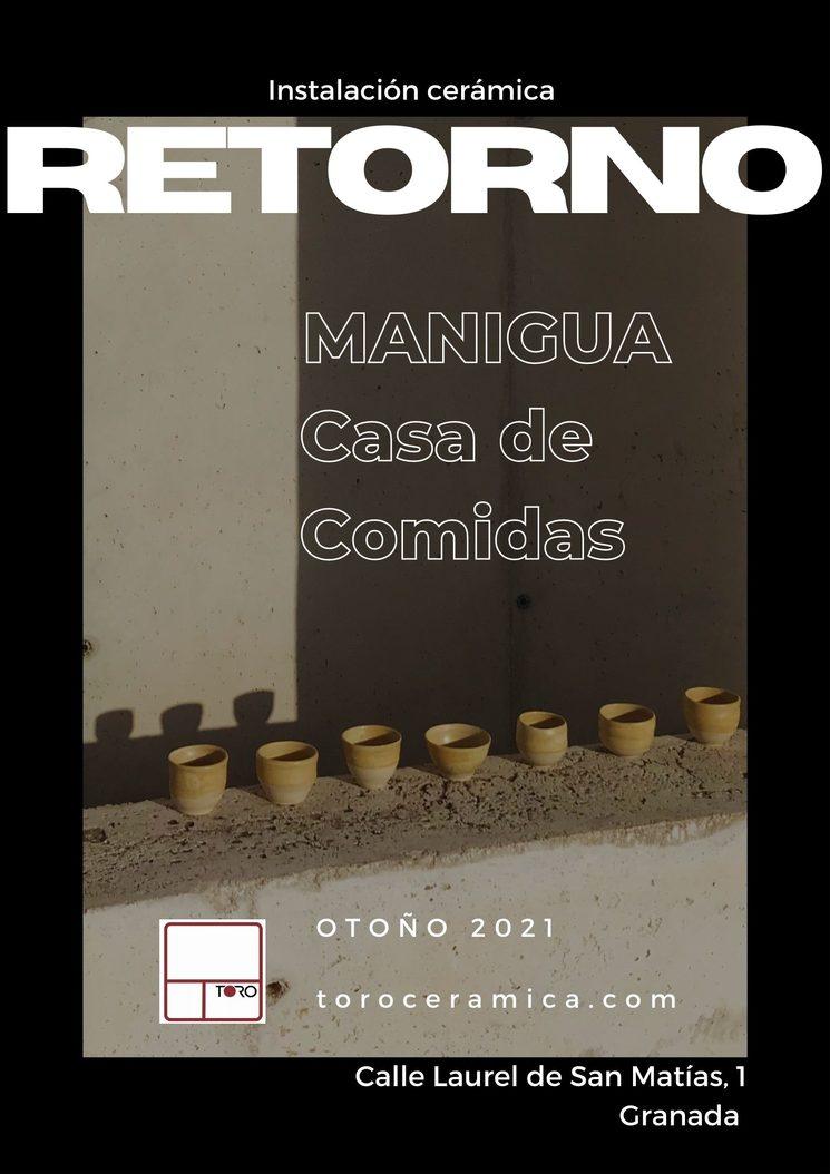 """Instalación cerámica  """"Retorno"""" en Manigua de Granada"""