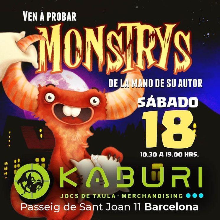 Ven a probar Monstrys a Kaburi Games Barcelona