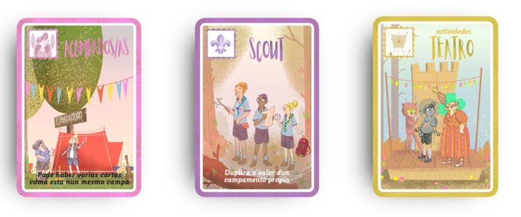 exemplos de cartas de acampados/as, actividades e cartas especiais