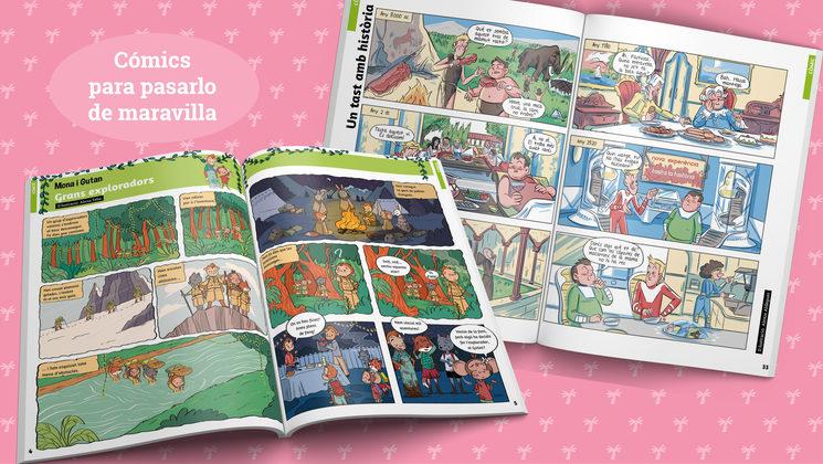 Ejemplos de cómics (edición en catalán)