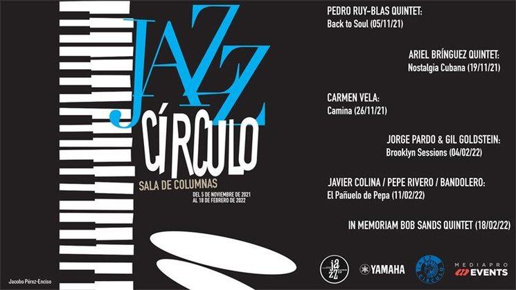 Cartel del festival Jazz Círculo 2021/22